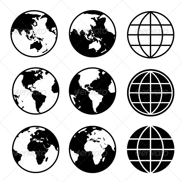 GraphicRiver Earth Map Glob Icons 5895809