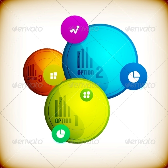 GraphicRiver Abstract Circles Infographic Colorful Template 5895811