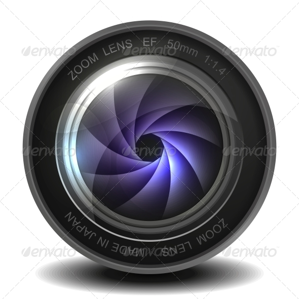GraphicRiver Camera Photo Lens with Shutter 5895821