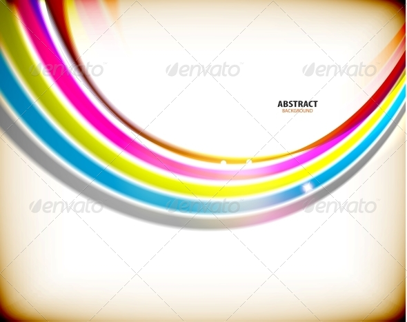 GraphicRiver Rainbow Swirl Colorful Abstract Background 5895936