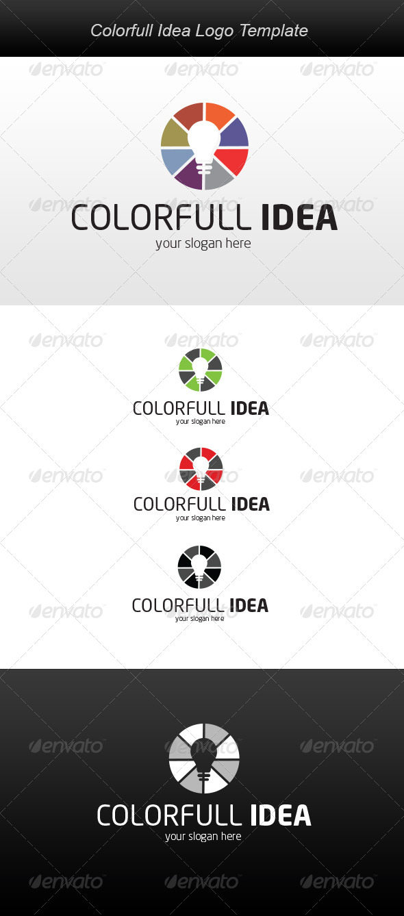 GraphicRiver Colorfull Idea Logo 5896021