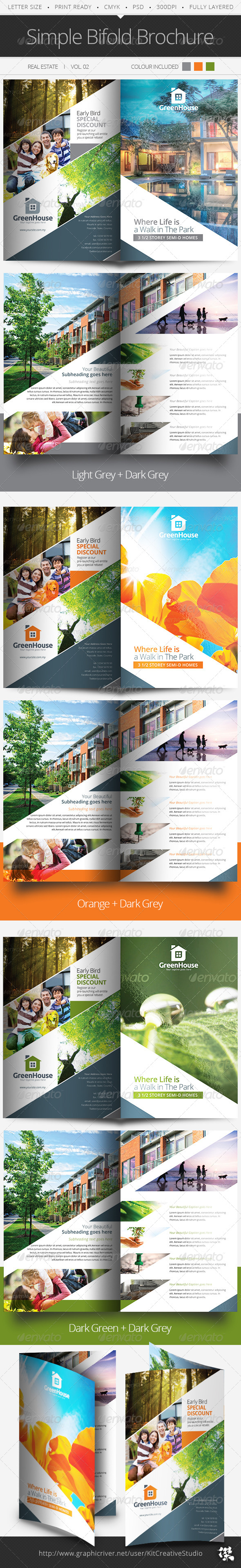 GraphicRiver Simple Bifold Brochure Vol.02 5896086