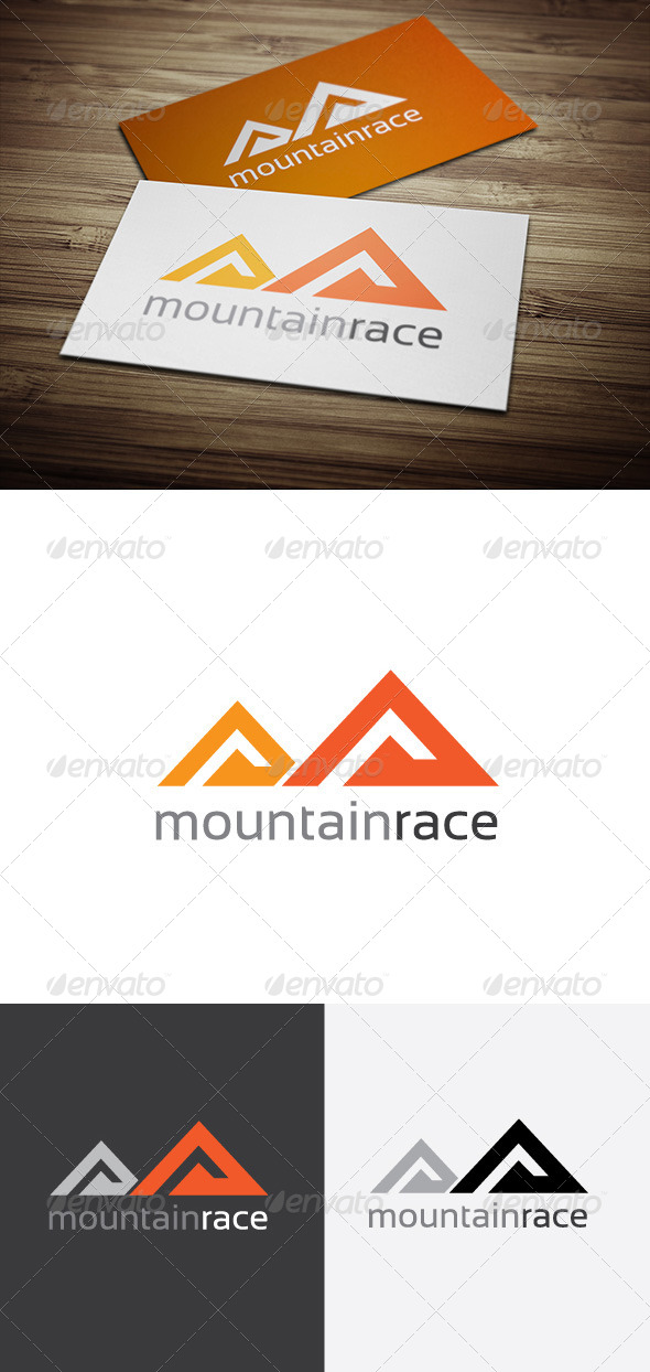 GraphicRiver Mountain Race Logo 5896096