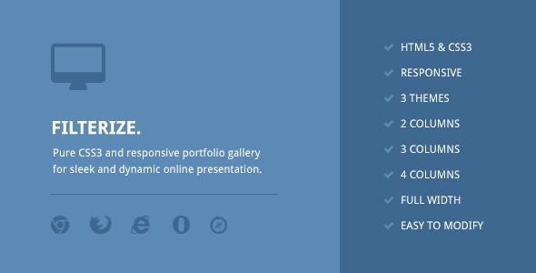 CodeCanyon Filterize Responsive CSS3 Portfolio Gallery 5896327