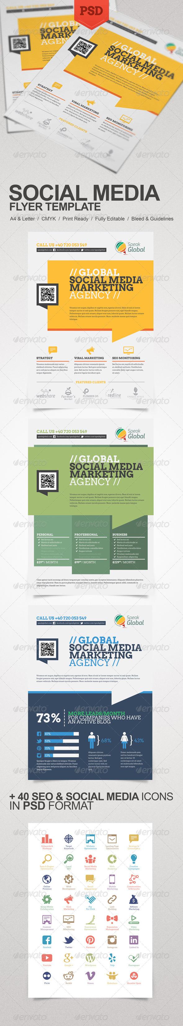 GraphicRiver Social Media Marketing Flyer 5896334