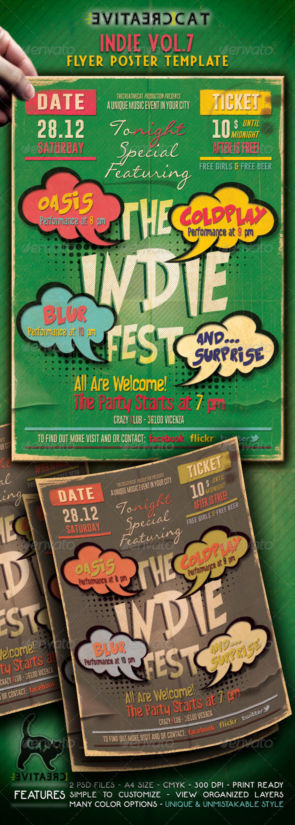 Indie Flyer/Poster Vol. 7 - Events Flyers