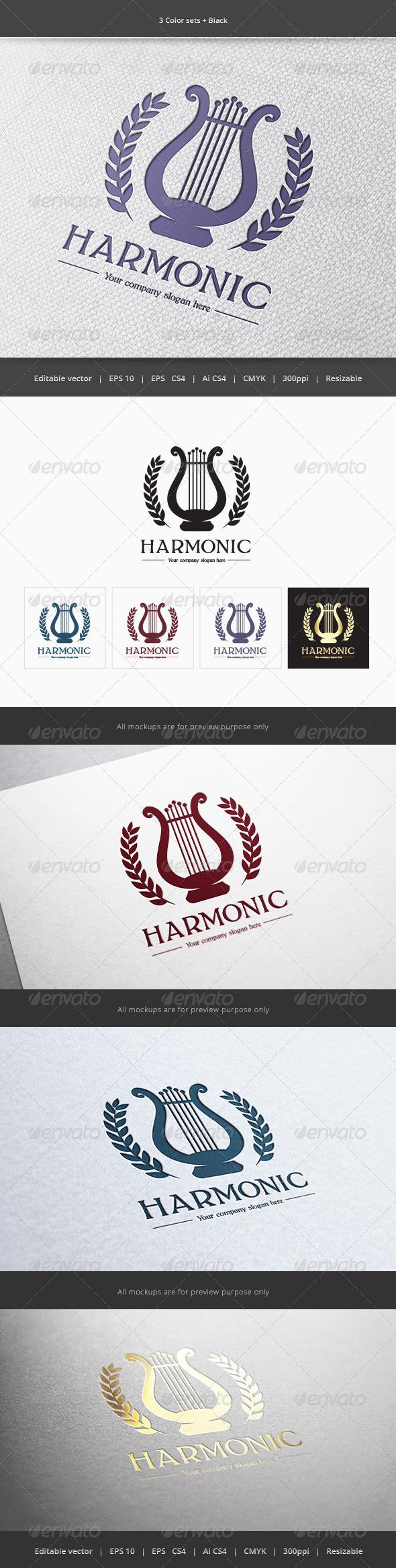 GraphicRiver Harmonic Music Logo 5889065