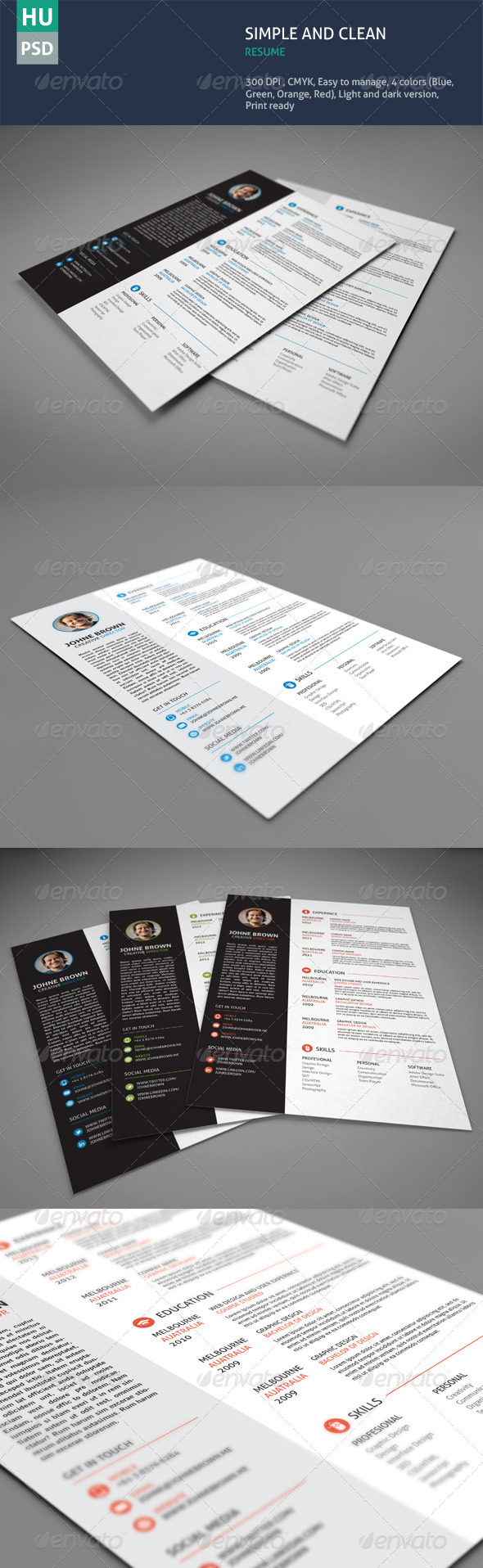 GraphicRiver Simple & Clean Resume 5896454