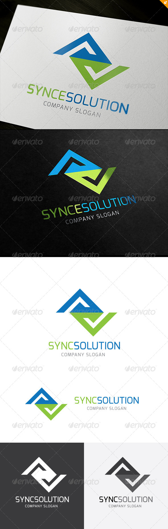 GraphicRiver Synce Solution Logo 5896457