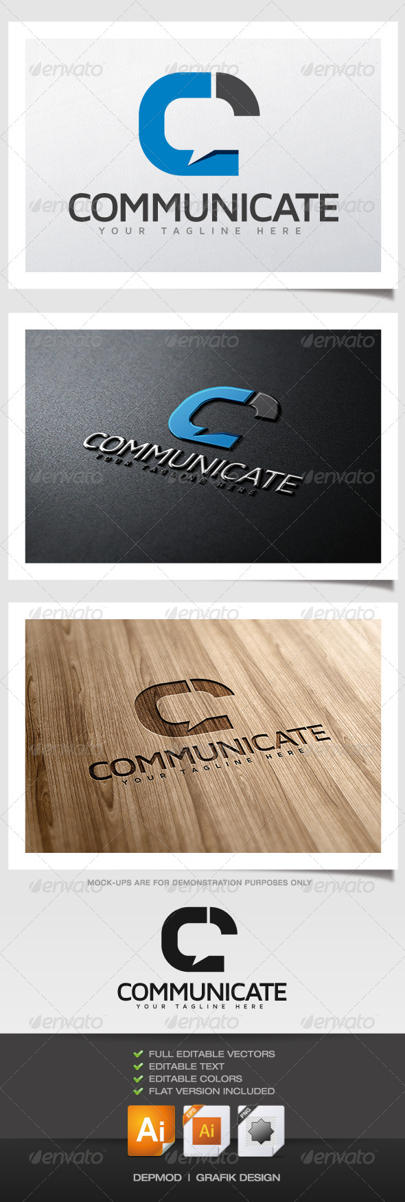 GraphicRiver Communicate Logo 5896480