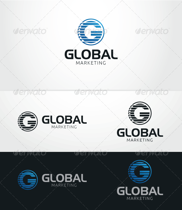 GraphicRiver Global Marketing Logo Template 5896598