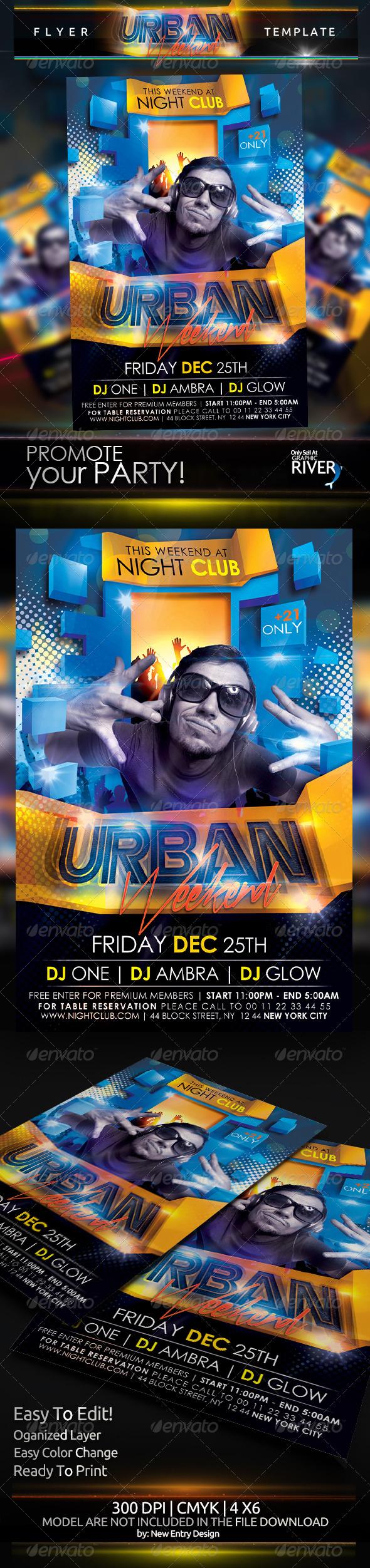 Urban Weekend Flyer Template