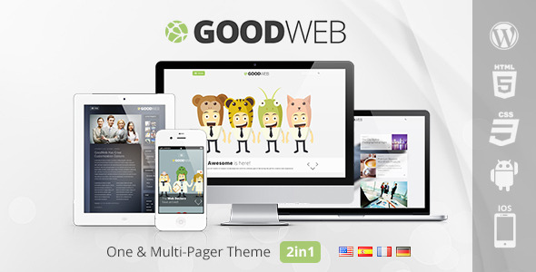 GoodWeb - One & Multi Page WordPress Theme