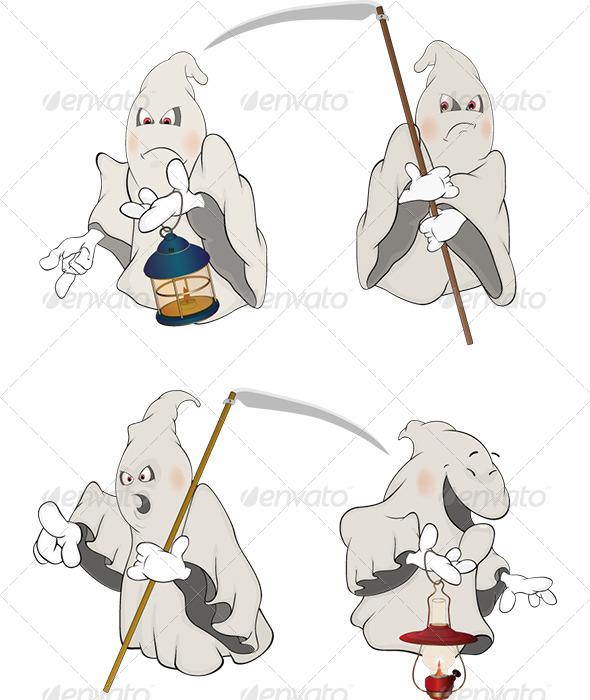 GraphicRiver Ghosts Clip Art Cartoon 5896617