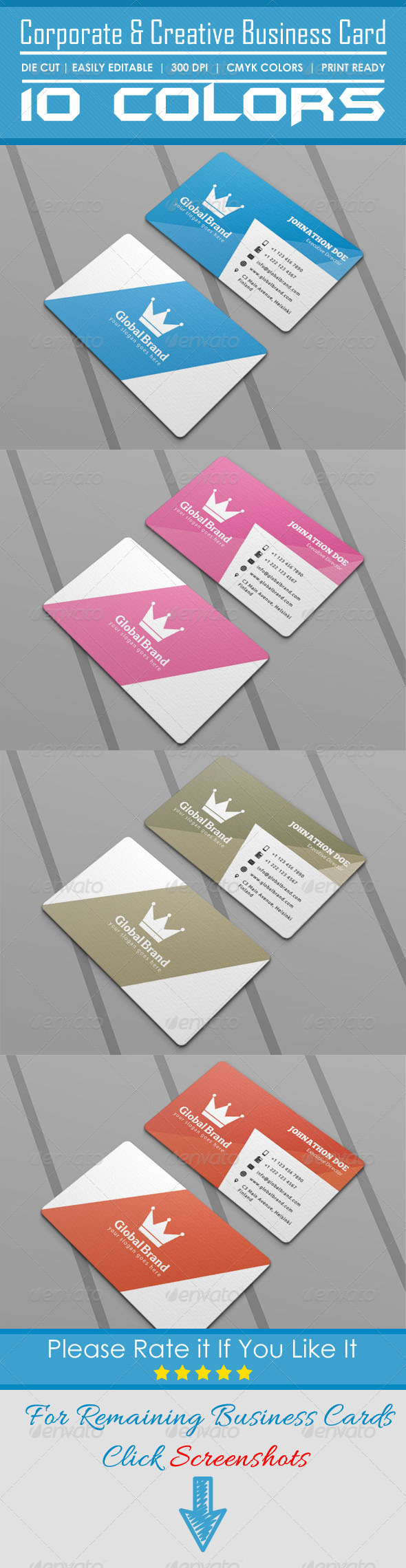 GraphicRiver Corporate & Creative Die Cut Business Card 5896675