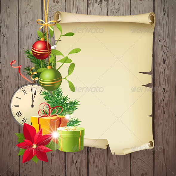 GraphicRiver Christmas Background 5896696