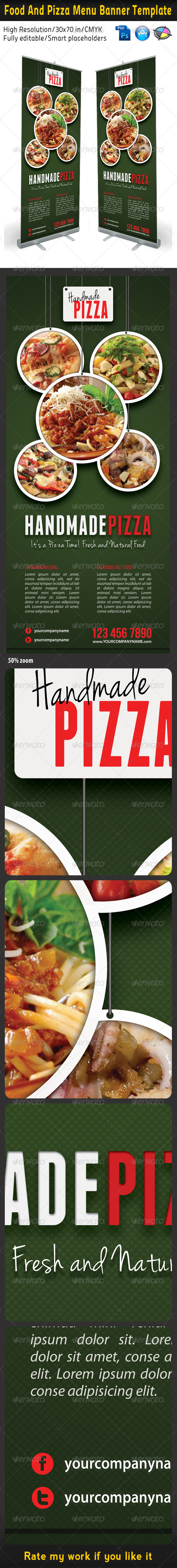 GraphicRiver Food And Pizza Menu Banner Template 03 5896703