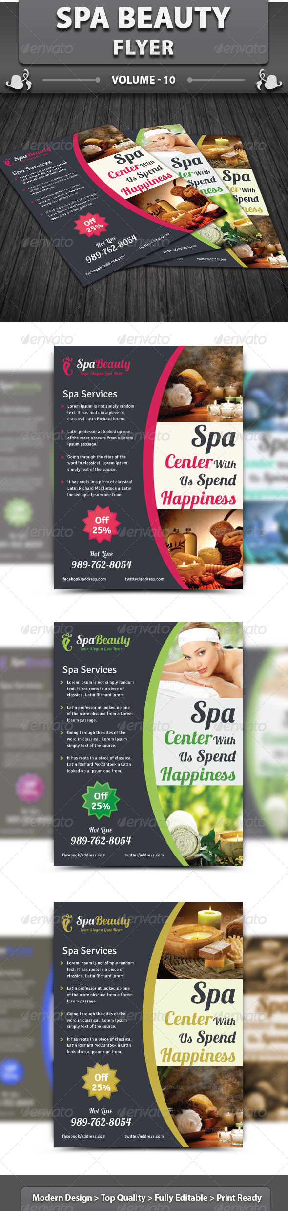 GraphicRiver Spa Beauty Flyer v10 5896720