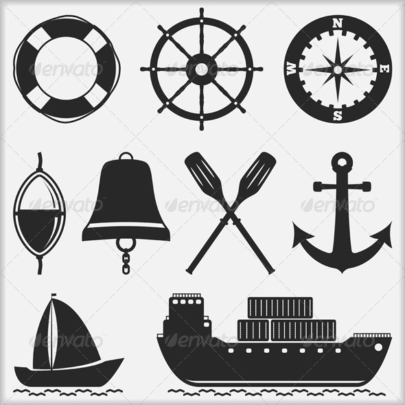 GraphicRiver Nautical Icons 5896732