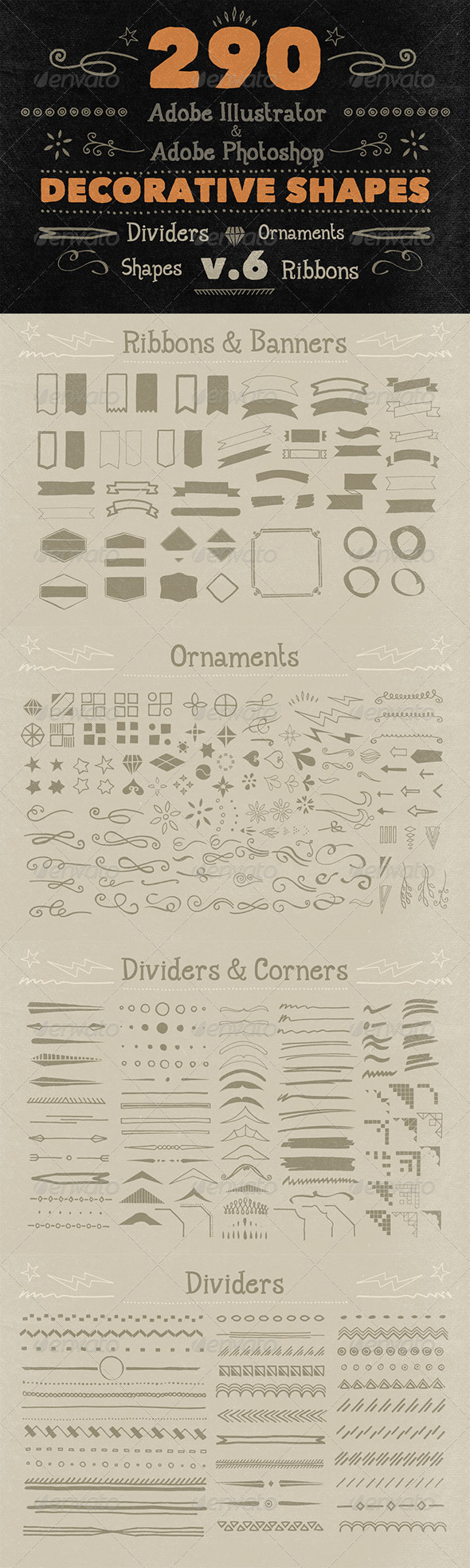 GraphicRiver 290 Handwritten Decorative Shapes 06 5897059