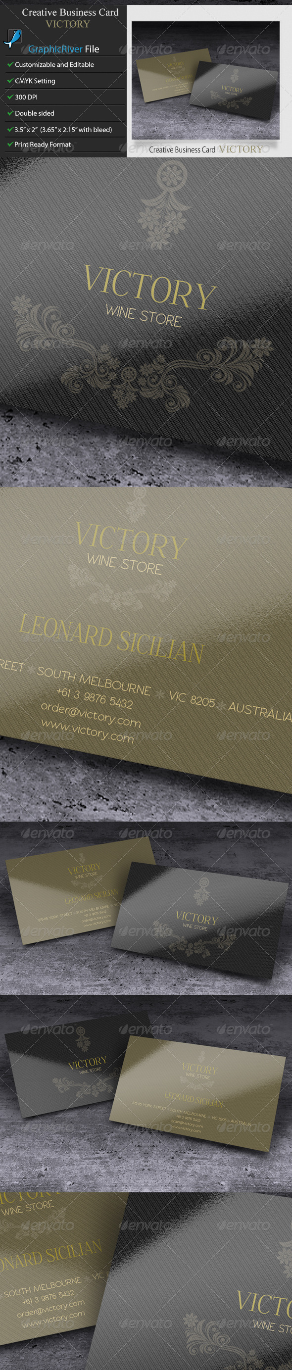 GraphicRiver Creative Business Card Victory 5897233