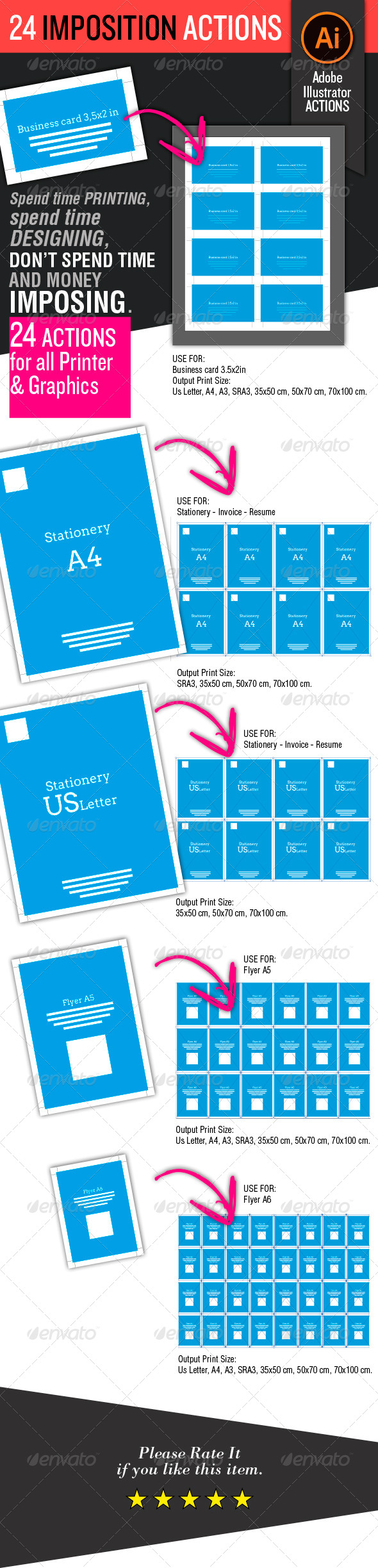 GraphicRiver 24 Imposition Actions 5897378