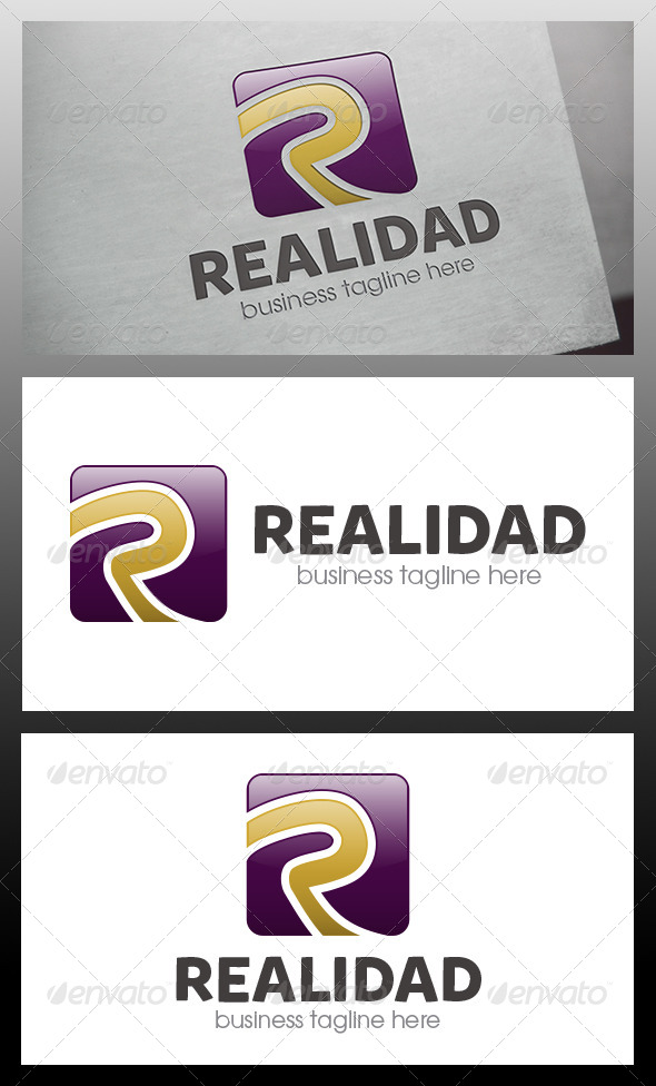 GraphicRiver Realidad R Letter Logo Template 5897439
