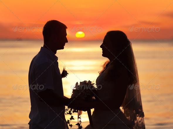Sunrise wedding - Stock Photo - Images