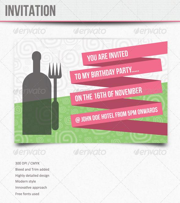 GraphicRiver Invitations Birthday 5897750