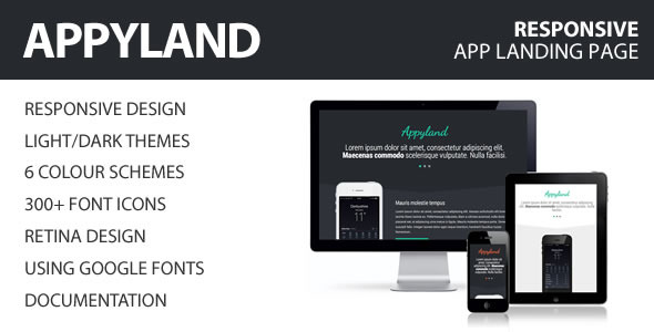 AppyLand - App Landing Page
