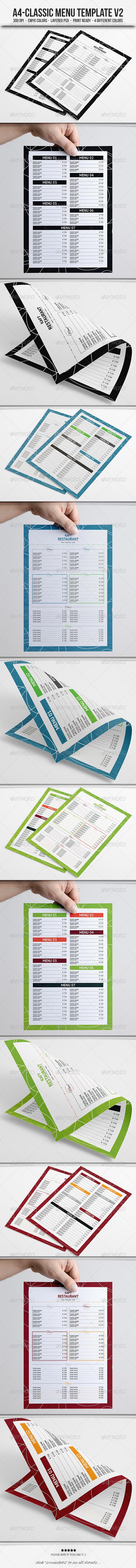 GraphicRiver Classic Menu Template V2 5897994