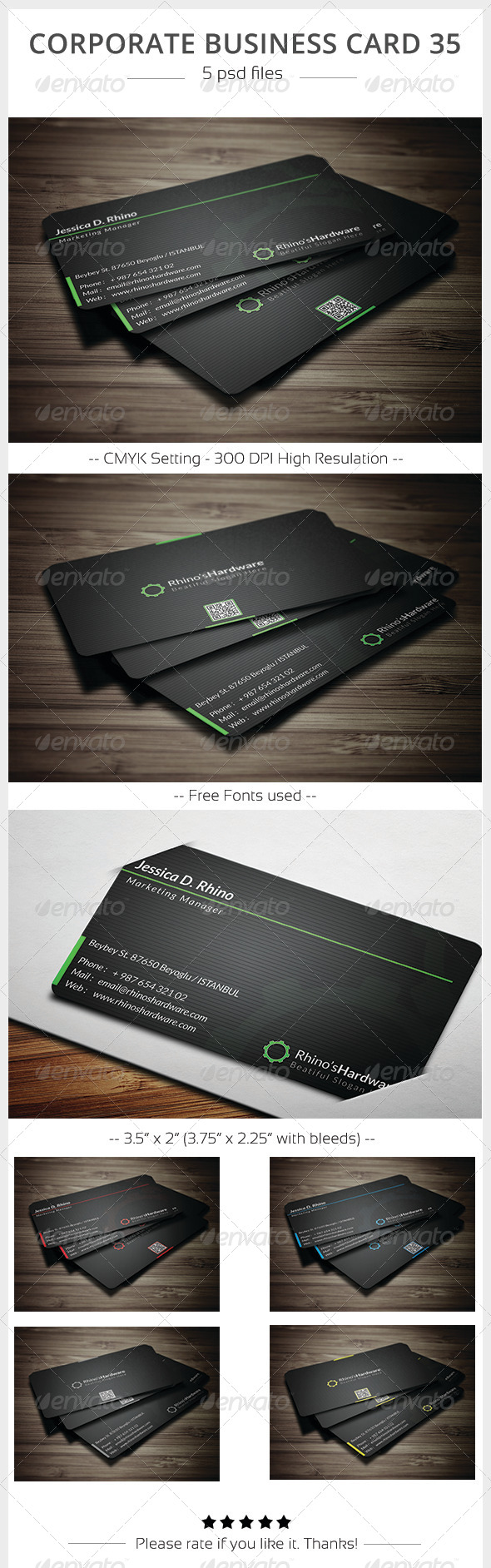 GraphicRiver Corporate Business Card 35 5898043
