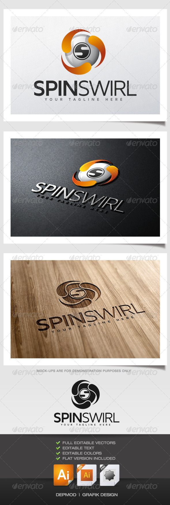 Spin Swirl Logo - Abstract Logo Templates