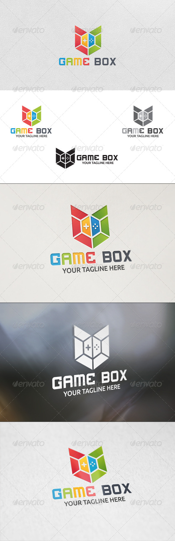 GraphicRiver Game Box Logo Template 5898177