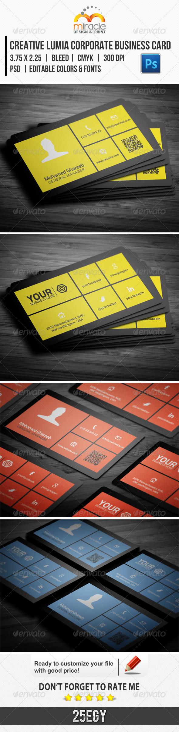 GraphicRiver Creative Lumia Corporate Business Card 5898212
