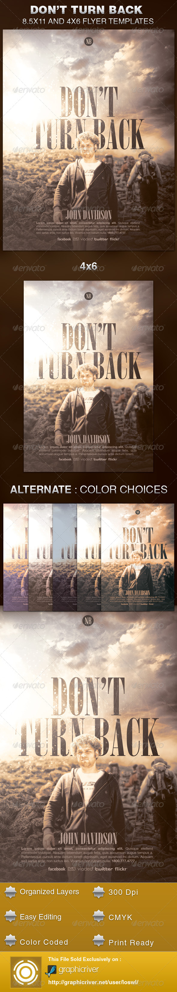GraphicRiver Don t Turn Back Church Flyer Template 5898240
