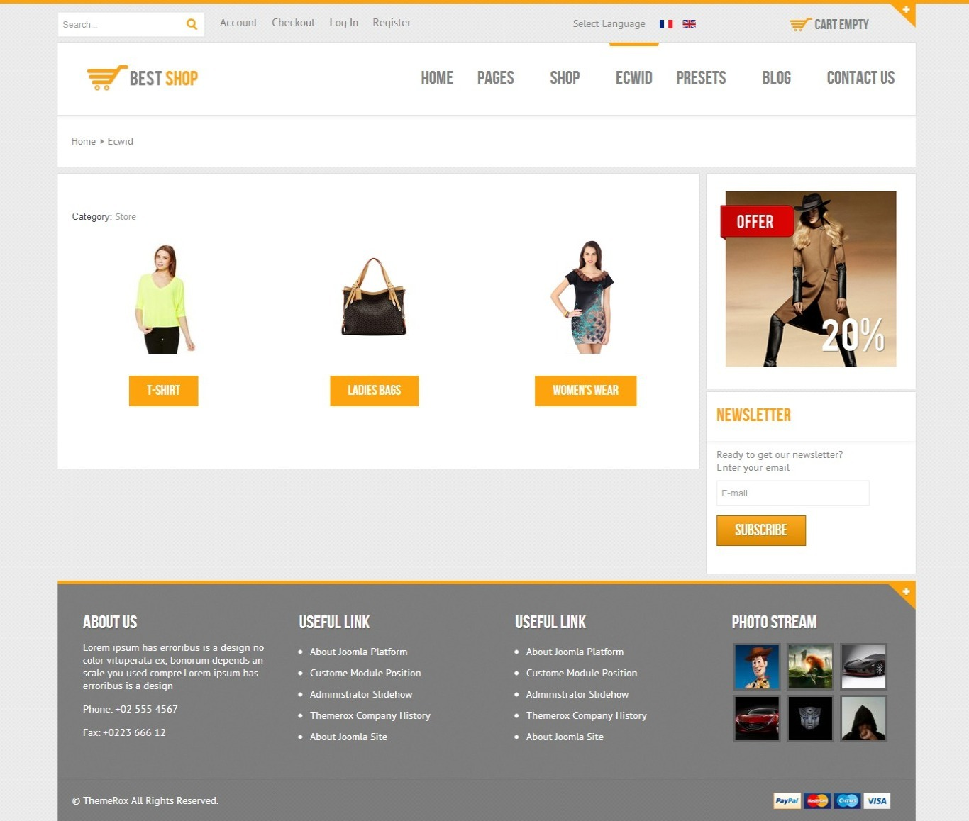 BestShop HTML5 Joomla E-Commerce Template - CMS Themes