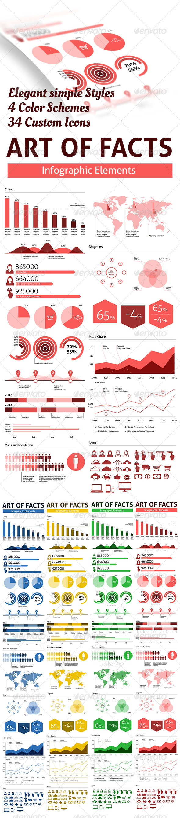GraphicRiver Arts of Facts Clean Infographic Elements 5898501