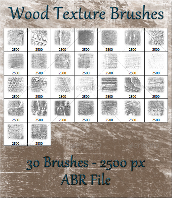 GraphicRiver Wood Texture Brushes 5898693