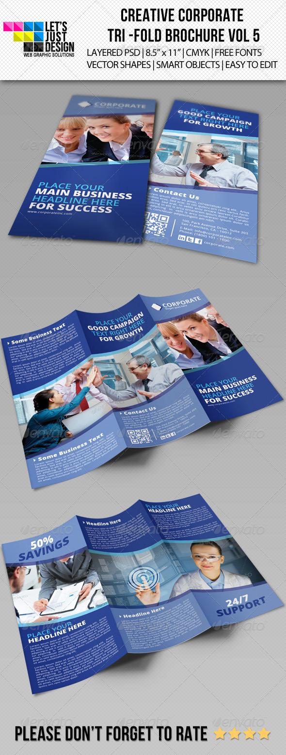 Creative Corporate Tri-Fold Brochure Vol 5