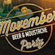 Movember Beer and Moustache Party Flyer Template  - GraphicRiver Item for Sale