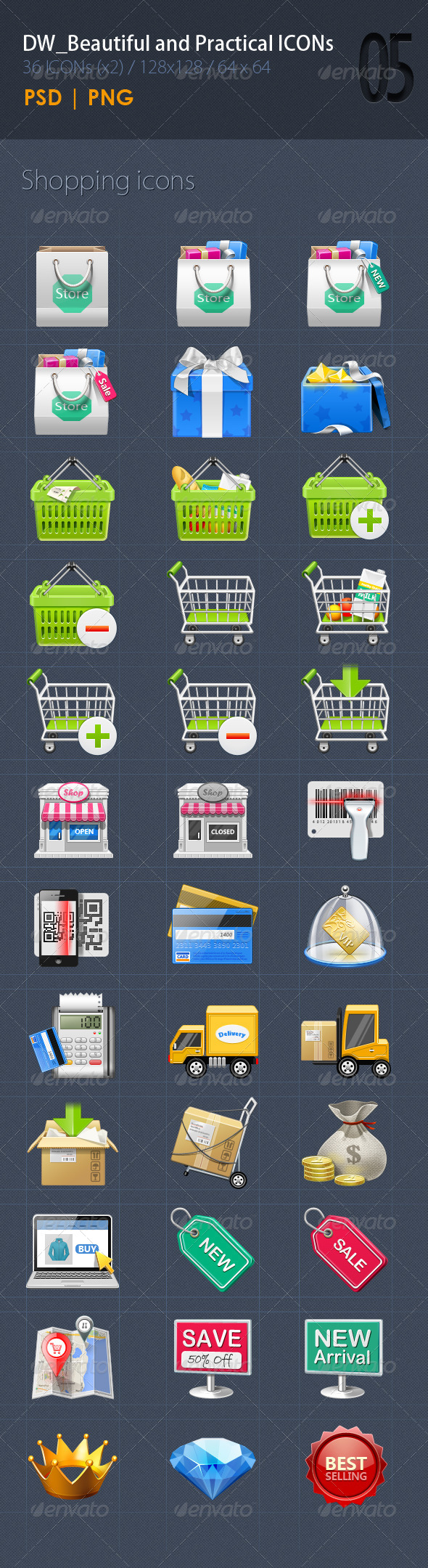 GraphicRiver 36 Beautiful&Practical ICON5 5899290