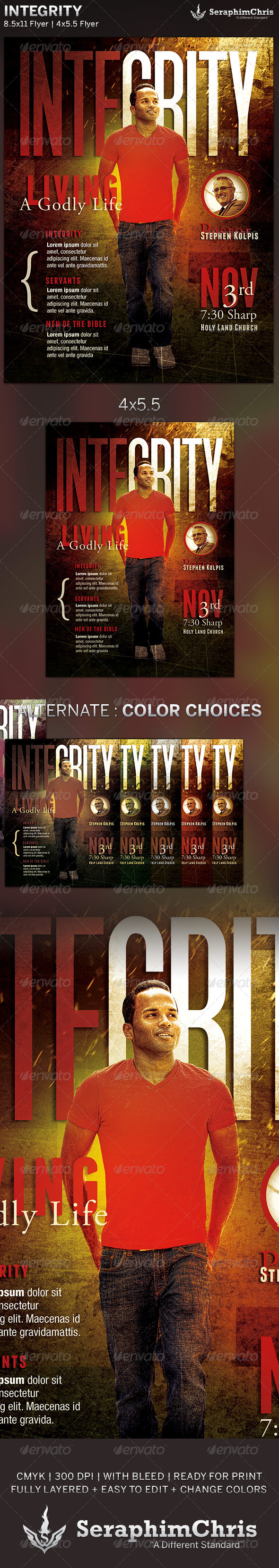 GraphicRiver Integrity Church Flyer Template 5899309