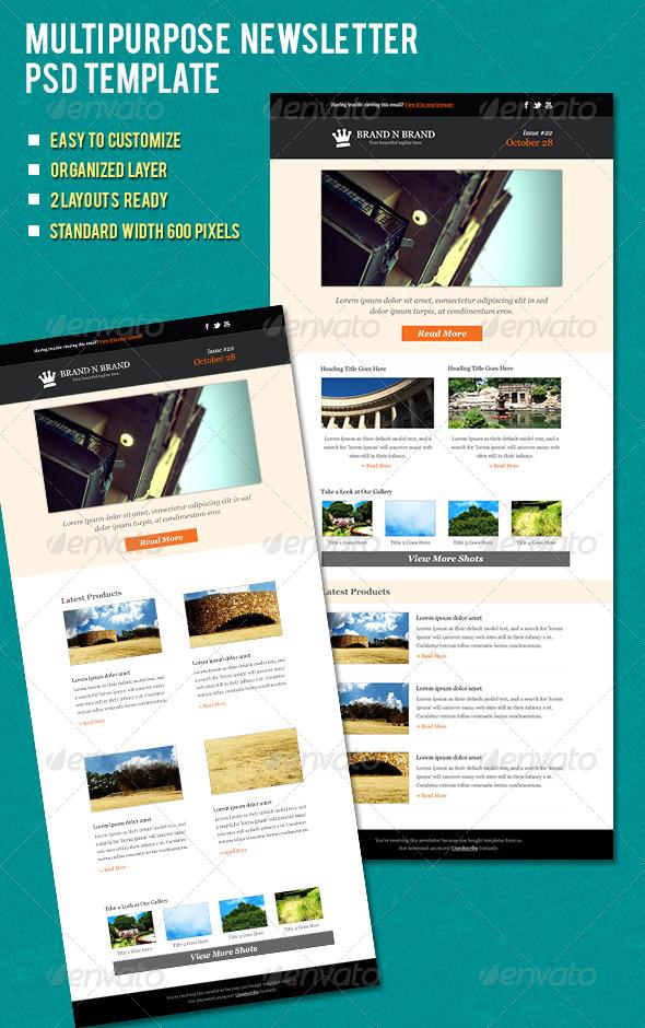 GraphicRiver Multipurpose Newsletter 5899382
