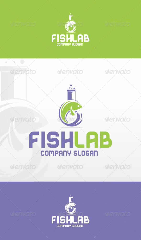 GraphicRiver Fish Lab Logo Template 5899461
