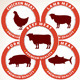 Fresh Meat Labels. Tags with a Animals Silhouette - GraphicRiver Item for Sale
