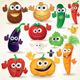 Funny Cartoon Vegetables Vector Clip Art - GraphicRiver Item for Sale