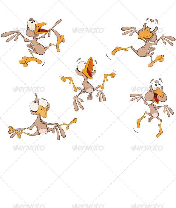 GraphicRiver Sparrows Clip Art Cartoon 5899587