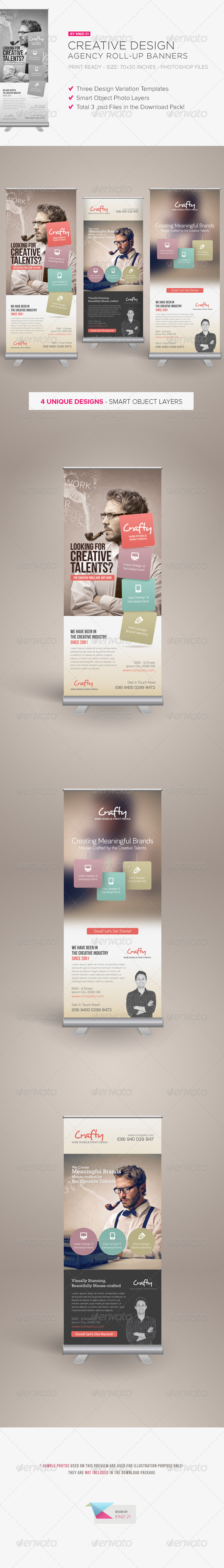 GraphicRiver Creative Design Agency Roll-up Banners 5899639