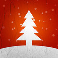 Orange Christmas Tree Background - PhotoDune Item for Sale